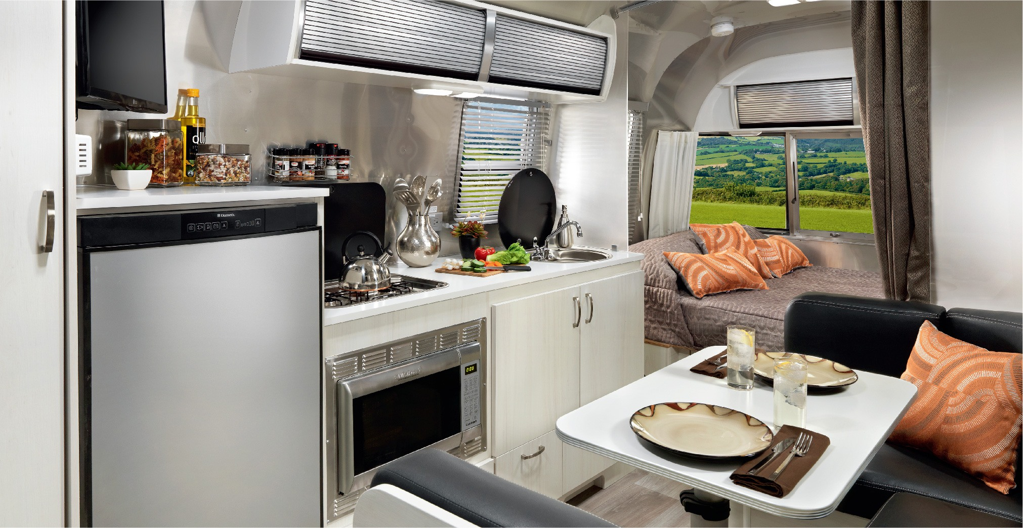 Airstream The Sport trailer inside