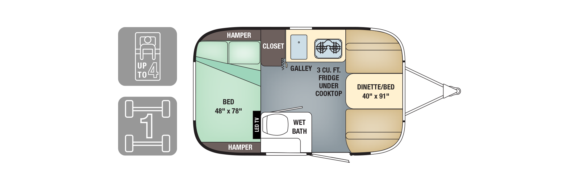 Airstream The Sport trailer plan