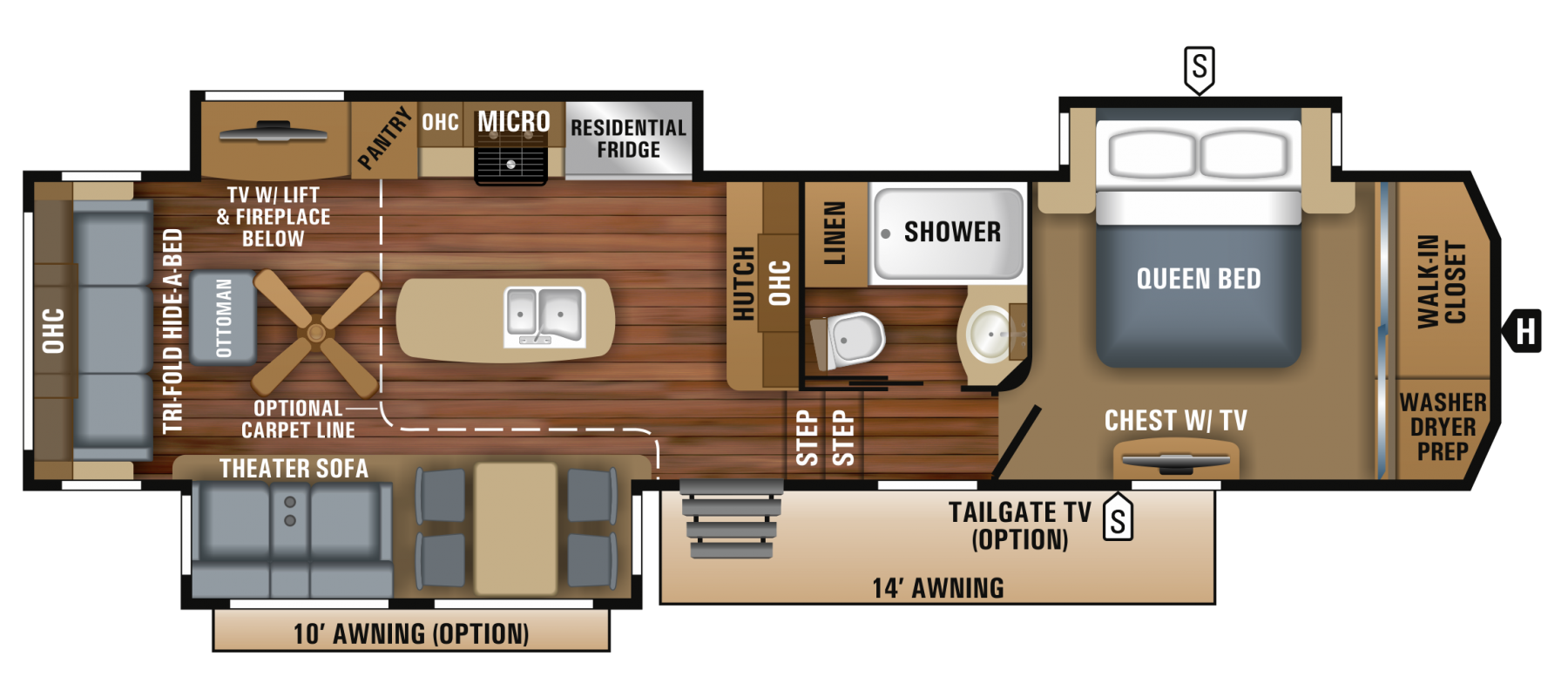 Jayco 2018 North Point floorplan
