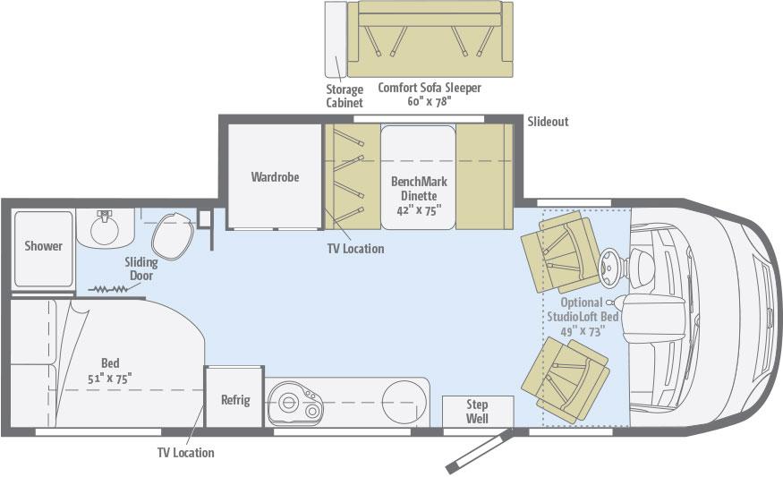 Winnebago Via floorplan